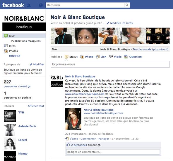 Noir & Blanc Facebook