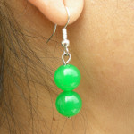 Boucles d'oreilles en jade