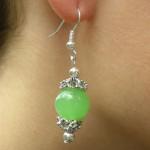 Boucles d'oreilles tibétaines en jade clair