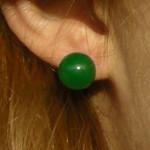 Boucles d'oreilles à clou en jade