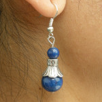 Boucles d'oreilles tibétaines en lapis lazuli