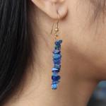 Boucles d'oreilles baroque en lapis lazuli