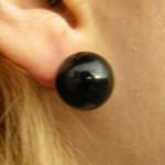 Boucles d'oreilles à clou en onyx