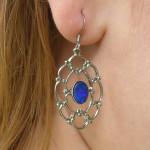 Boucles d'oreilles argent et opale