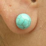 Boucles d'oreilles à clou en turquoise