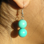 Boucles d'oreilles en turquoise