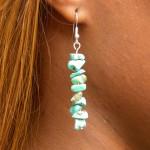Boucles d'oreilles baroques en turquoise