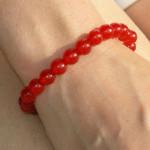Bracelet agate avec perles fines rouges