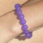 Bracelet agate couleur lavande