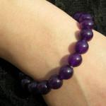 Bracelet améthyste avec perles fines