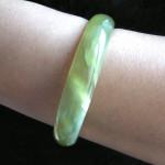 Bracelet bangle en jade
