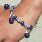 Bracelet tibétain en lapis lazuli