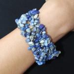 Bracelet baroque en lapis lazuli