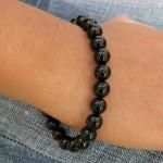 Bracelet en onyx avec perles fines