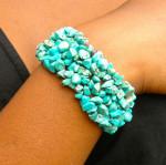 Bracelet baroque en turquoise