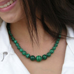 Collier en chute malachite