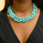 Collier baroque en turquoise